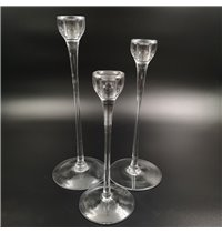 Candle Stick Clear 3pc