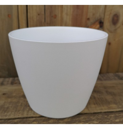 Flower pot matte white