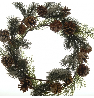 Pine cones and ivy wreath