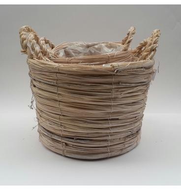Vine look basket set 3 piece natural