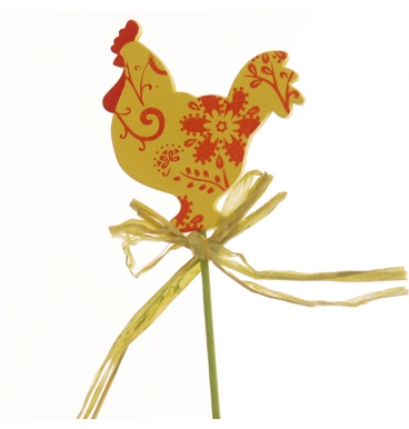 Chicken pic yellow with a ribbon