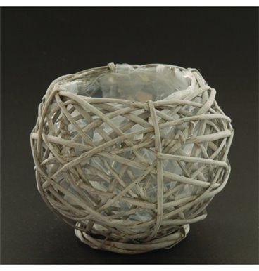 Small grey willow holder