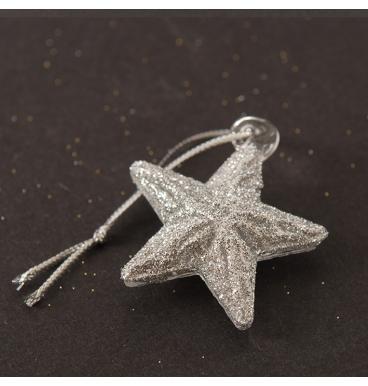 Star glass glittered