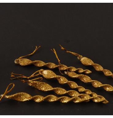 Golden glass swirls