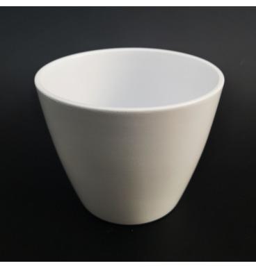 Matte white flower pot