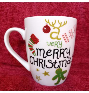 Christmas mug etched
