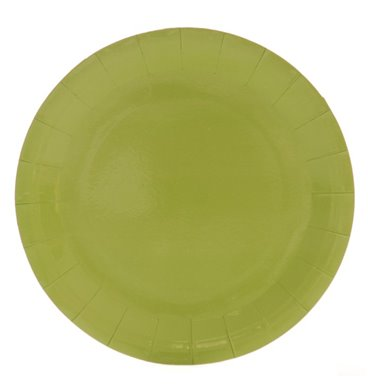 Plain green party paper plate
