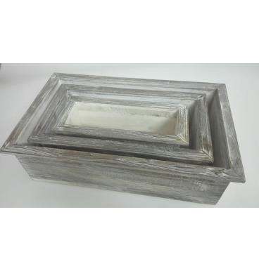SQ rustic grey crates 3 piece