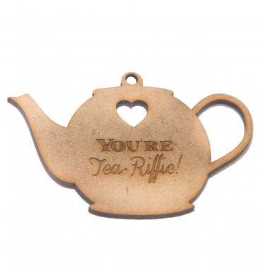 Wooden tag tea pot