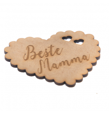Wooden tag reading beste mamma