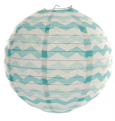 Blue chevron paper lantern