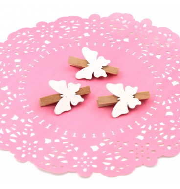 Butterfly pretty pegs on a pink dollie