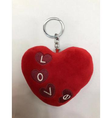 Red heart love key chain