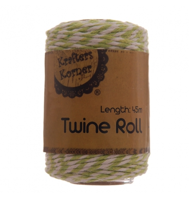 Twine roll green and white