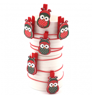 Red owl pegs