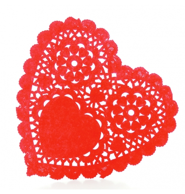 Red heart shaped dollie