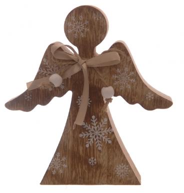 Wooden angel decoration