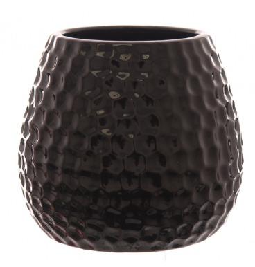 Black dimple vase
