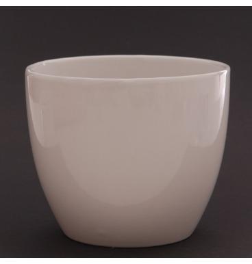 Smooth white face pot