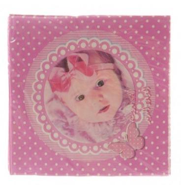 Pink girl serviettes