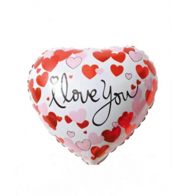 Heart shaped and pattern i love you balloon