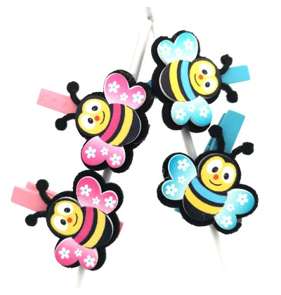 Pink and blue bumblebee pegs