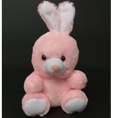 Baby pink bunny plushie