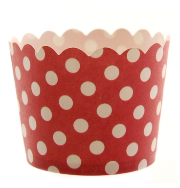 Red dotted cupcake holder