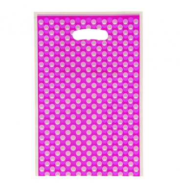 Dotted purple loot party bags