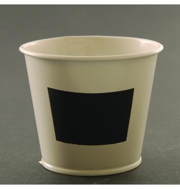Cream blackboard bucket