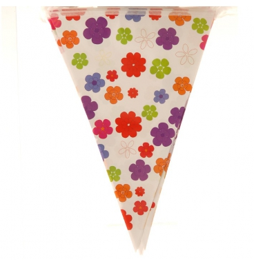 Colourful floral bunting