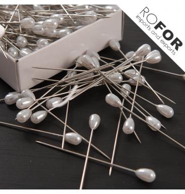 Pearl raindrop pins