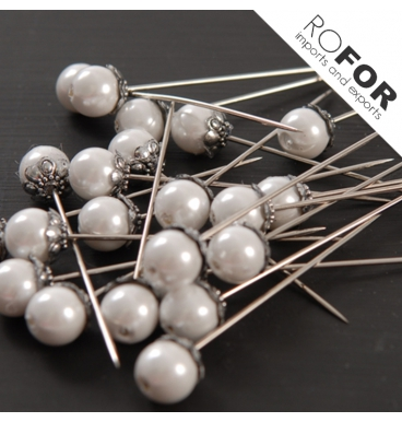 White pearl crown pins