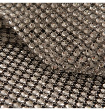 Diamond linked silver wrap