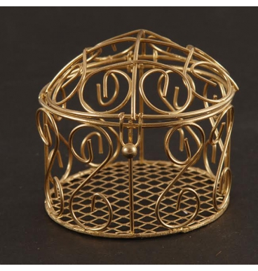 Flat wire bronze colored birdcage
