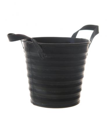 Jean black tin bucket