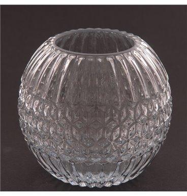 Rose fancy large glass bowl
