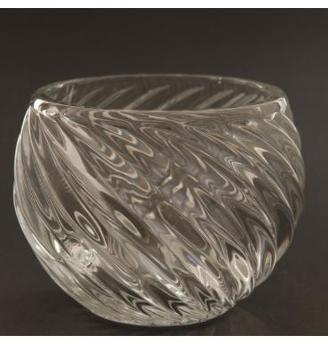 Swirl glass bowl