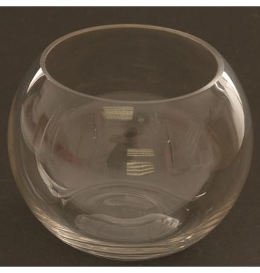 Rose color tinted glass bowl