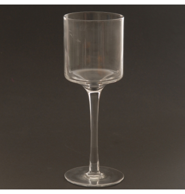 Clear glass handle holder small