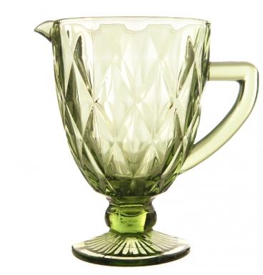 Green jug with diamond pattern