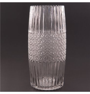Fancy cylinder vase with pattern middle