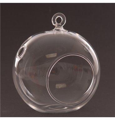 Glass bowl hang-able