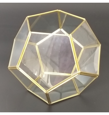 Frosted glass terranium gold