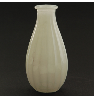 White riffled glass bottle