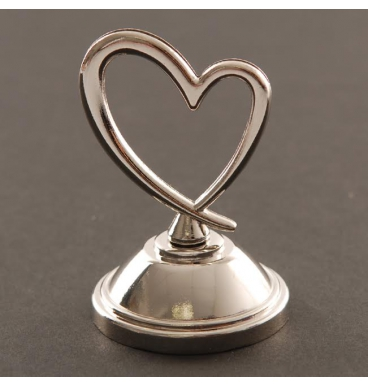 Heart with stand card holder