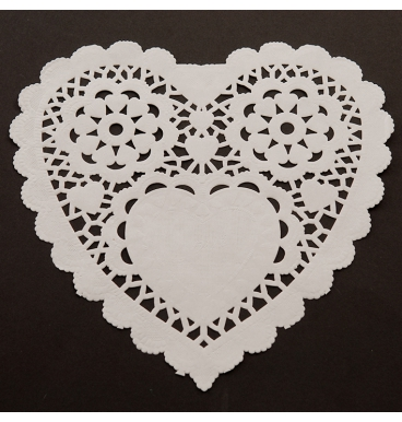 White dollie heart shaped