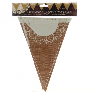 Hessian/dollie bunting neutral