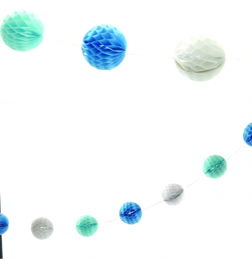 Honeycomb garland on a string