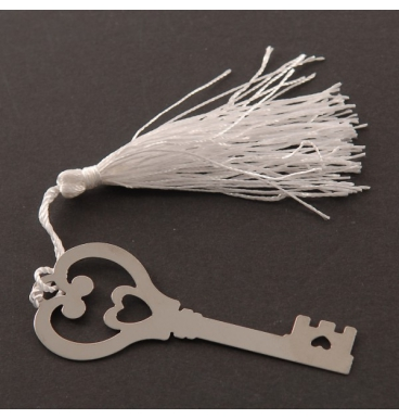 Key bookmark with a tassel